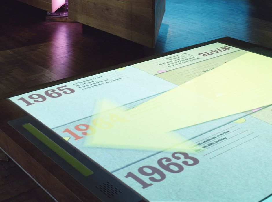 Churchill Museum touchtable interactive, with Casson Mann (2005)