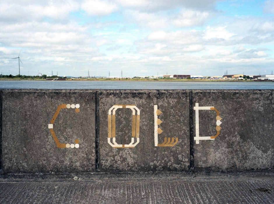 Belvedere River Wall (signage,2011)