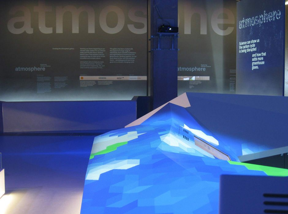 Climate science gallery, Science Museum, London, with Casson Mann(2010)