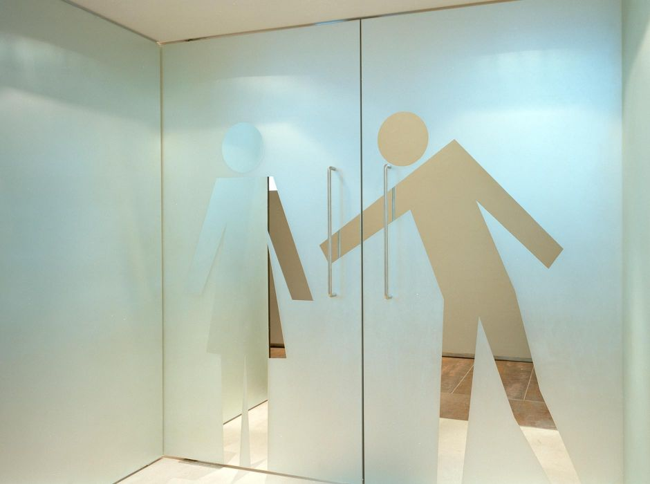 Toilet doors, Stanislavsky Factory, Moscow, with Casson Mann(2008)