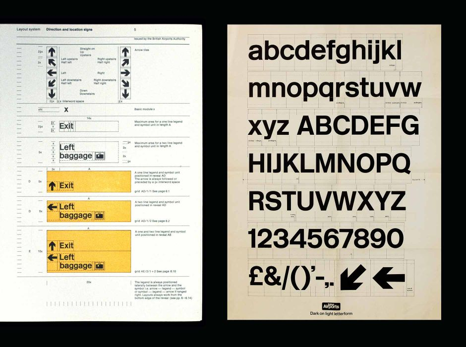 Airport signing system, (manual, 1972)