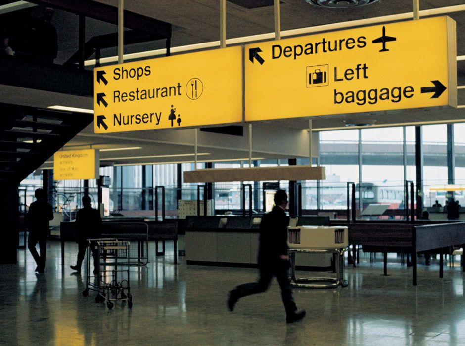Airport Signs (signage, 1960s)