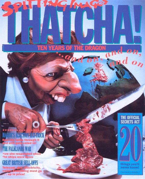 Thatcher Cutting Up Britain, Spitting Image