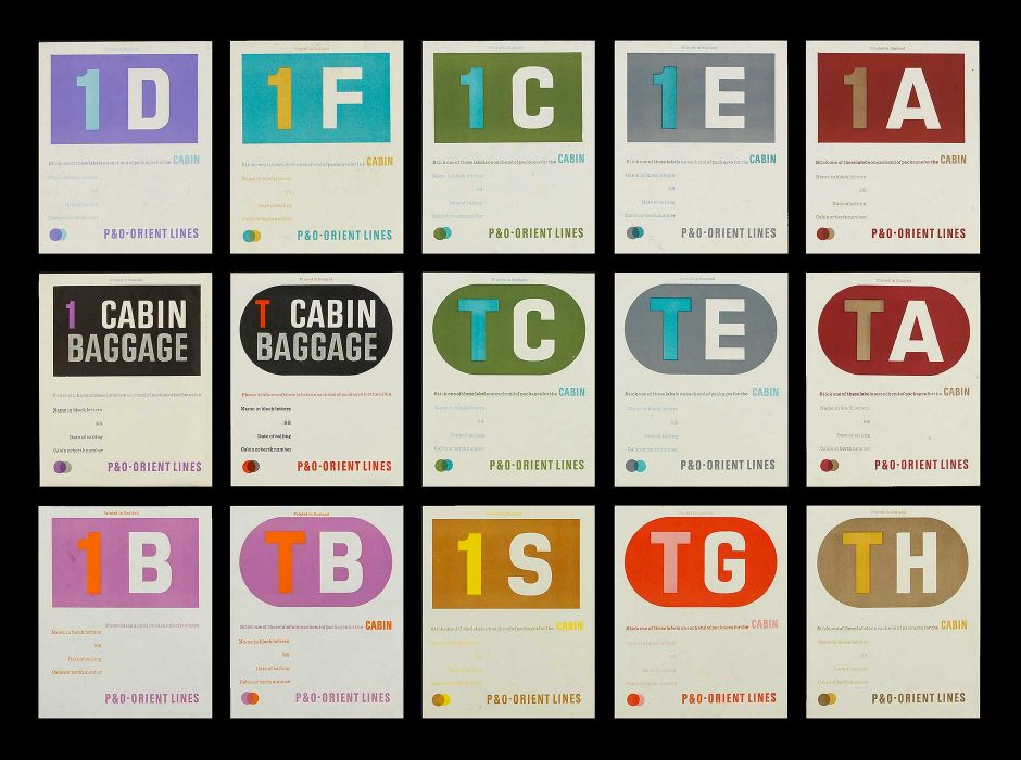 P&O (baggage labels, early 1960s)